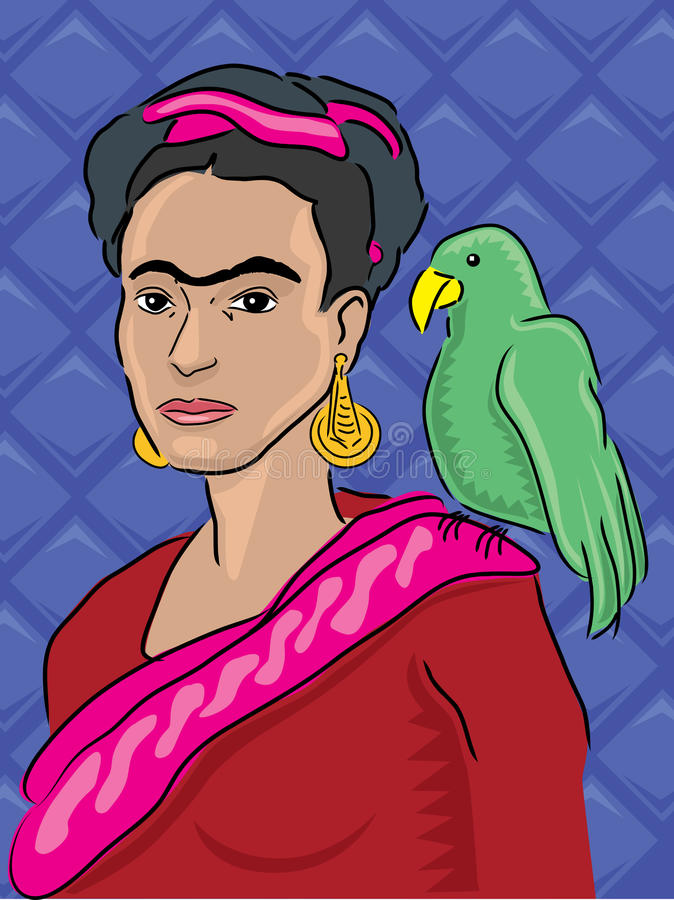 Frida Kahlo Portrait stock illustratie