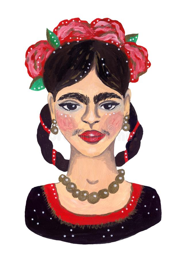 Frida Kahlo Portrait libre illustration
