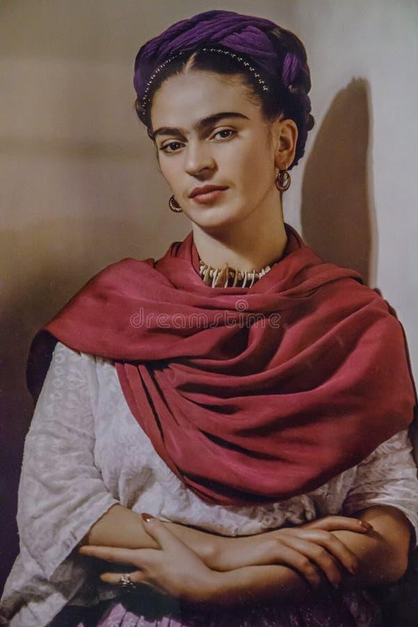 Frida Khalo - forte donna dell'artista fotografia stock libera da diritti