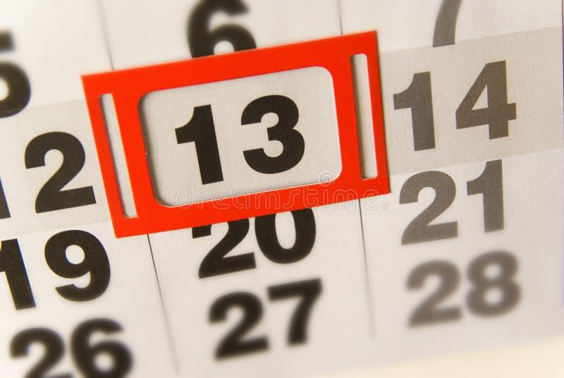 Friday 13th thirteen royalty free stock photography