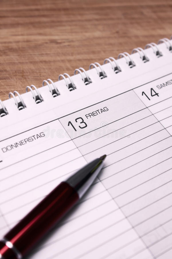 Download Friday 13th stock image. Image of open, week, paper, number - 15097247