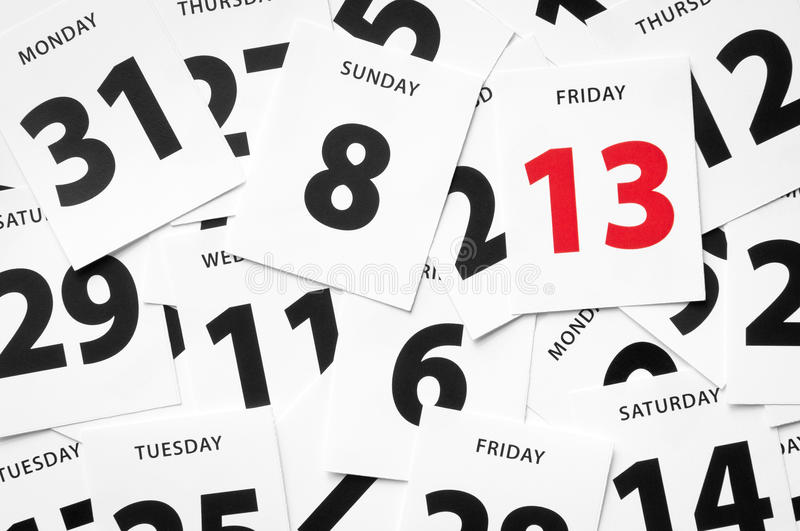 Friday 13th misfortune stock photography