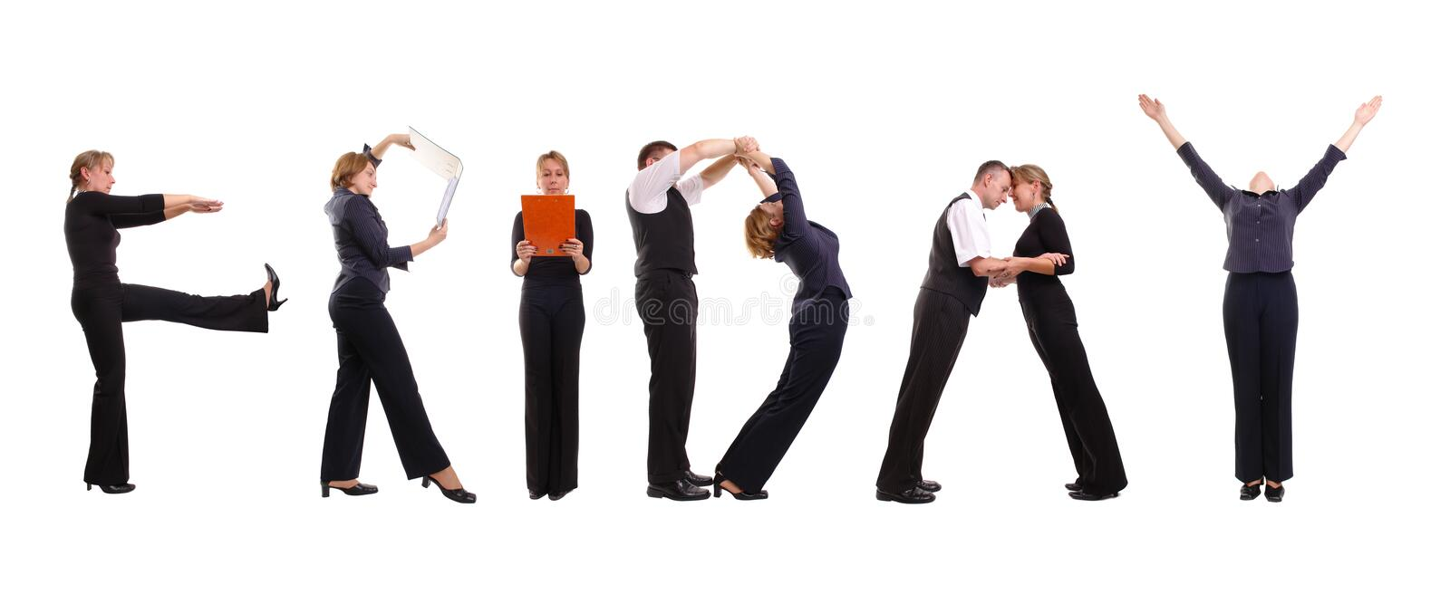 Download Friday business group stock image. Image of business, alphabet - 3468547