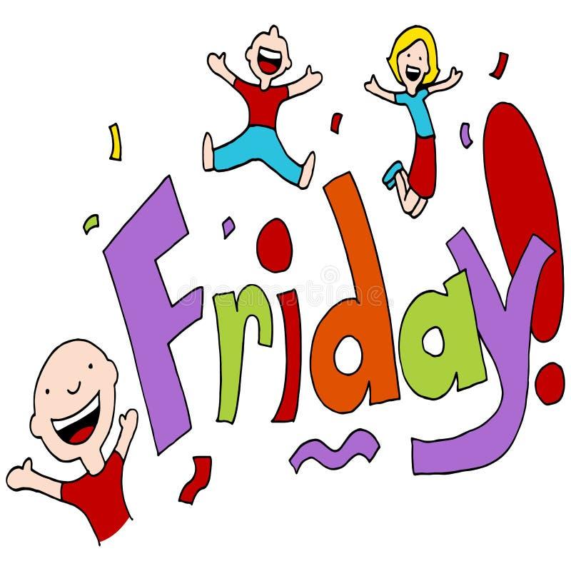 friday celebration cartoon clipart happy vector illustration text sketch preview emoji
