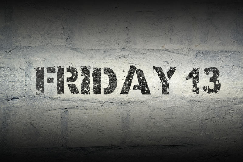 Friday 13 GR royalty free stock photography
