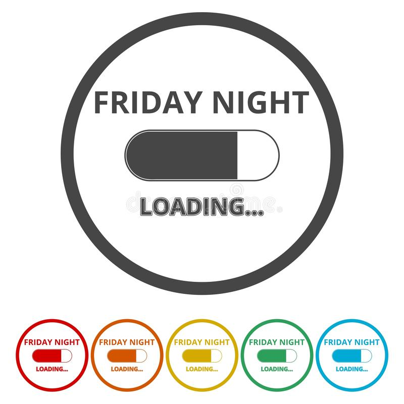 Friday loading. Progress loading bar royalty free illustration