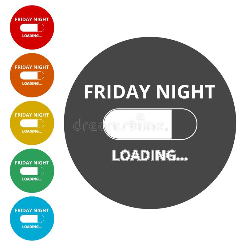 Friday loading. Progress loading bar stock illustration
