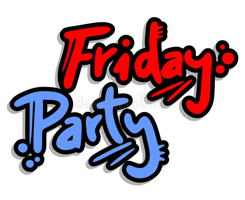 Friday party vector illustration