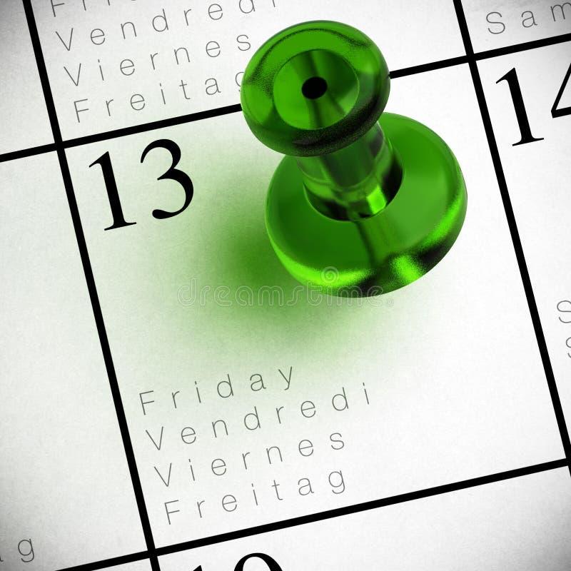 Free Friday The 13th Calendar Royalty Free Stock Photos - 22362828