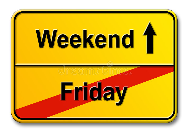 Friday-Weekend Royalty Free Stock Photos