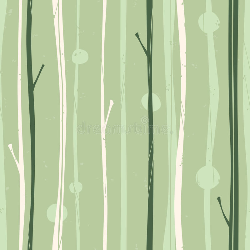 fridfull skogmodell stock illustrationer