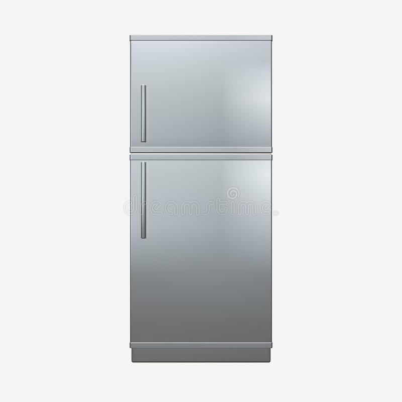 Fridge. 3d image with a fridge stock illustration