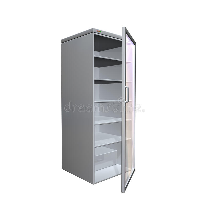 Download Fridge stock illustration. Image of cold, refrigerator - 13369539