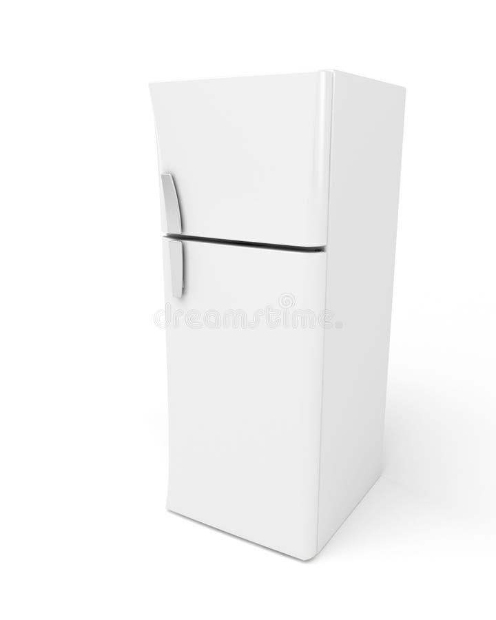 Fridge. 3d image of modern fridge on white background royalty free illustration