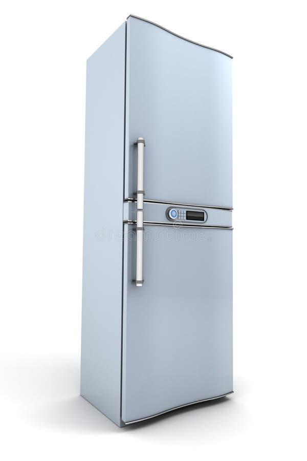 Fridge. Modern fridge on white background (done in 3d vector illustration