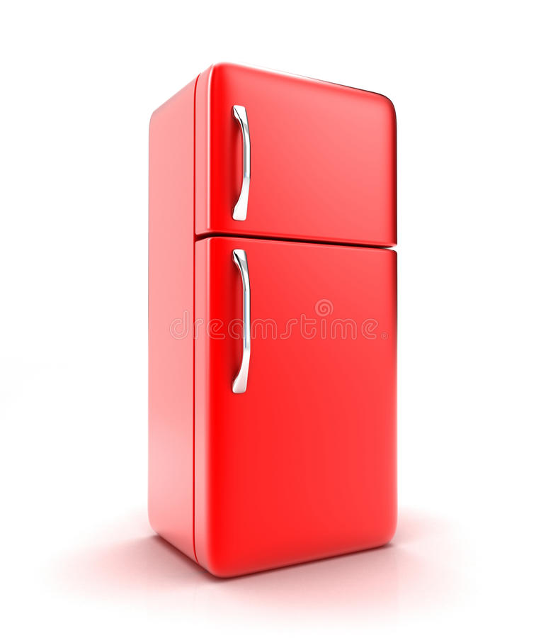 The fridge. Illustration of a new fridge on a white background stock illustration