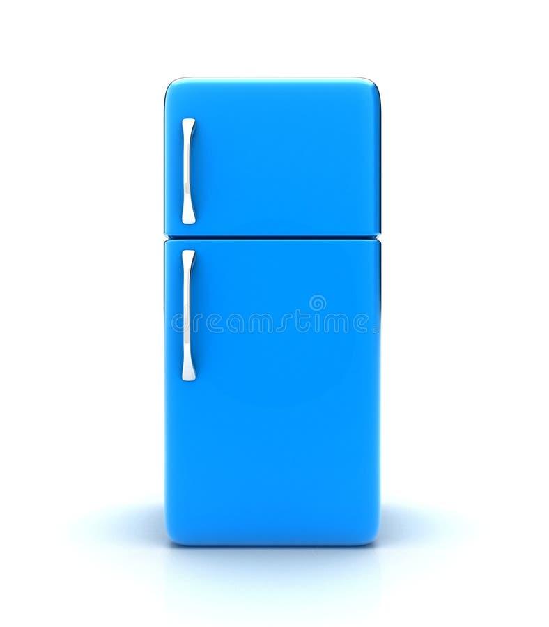 The fridge. Illustration of a new fridge on a white background royalty free illustration