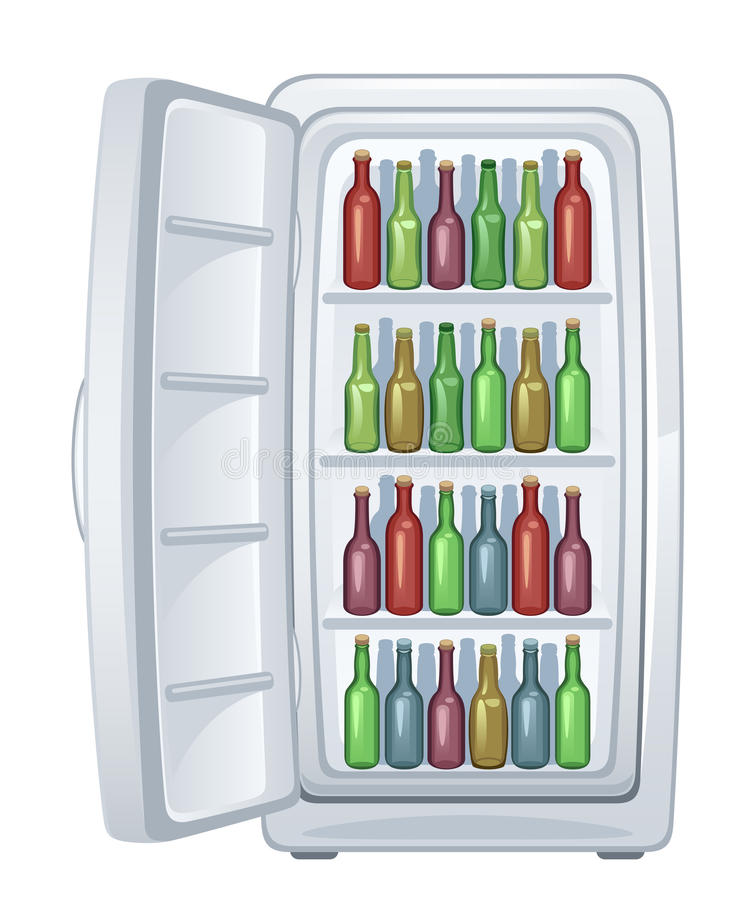 Download Fridge stock vector. Image of electrical, container, illustration - 26841717