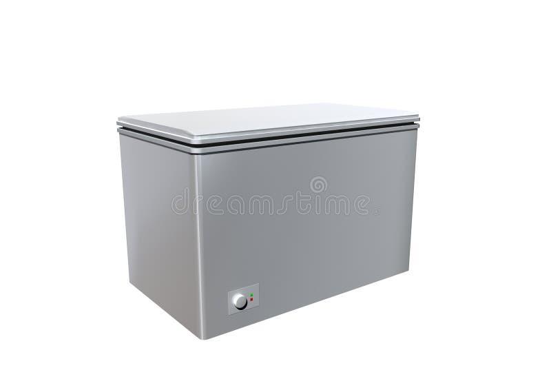 Fridge. A fridge on white background vector illustration