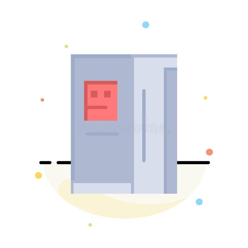 Fridge, chłodziarka, deaktywacja, chłodnia koloru ikony Abstrakcjonistyczny Płaski szablon ilustracja wektor