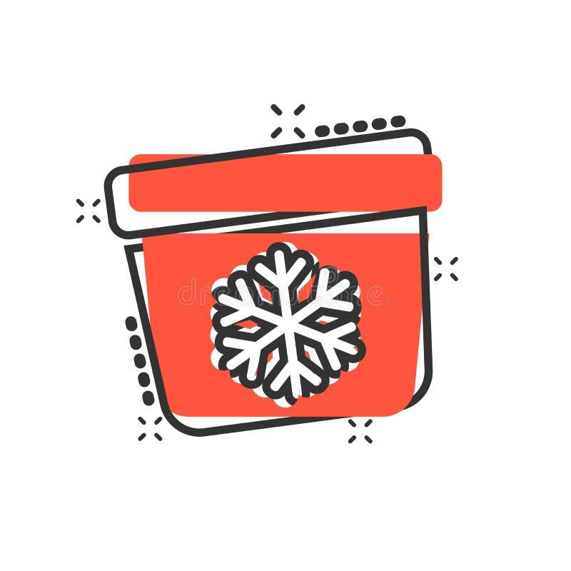 Fridge chłodziarki ikona w komiczka stylu Chłodnia zbiornika kreskówki ilustracji wektorowy piktogram Fridge pojęcia biznesowy pl ilustracja wektor