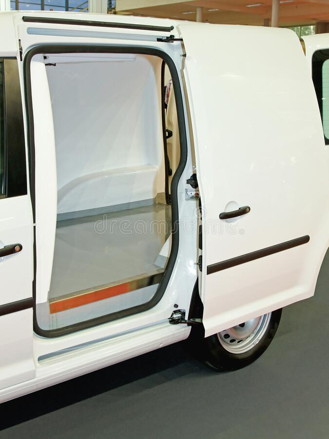 Fridge Delivery Van fotografia stock libera da diritti
