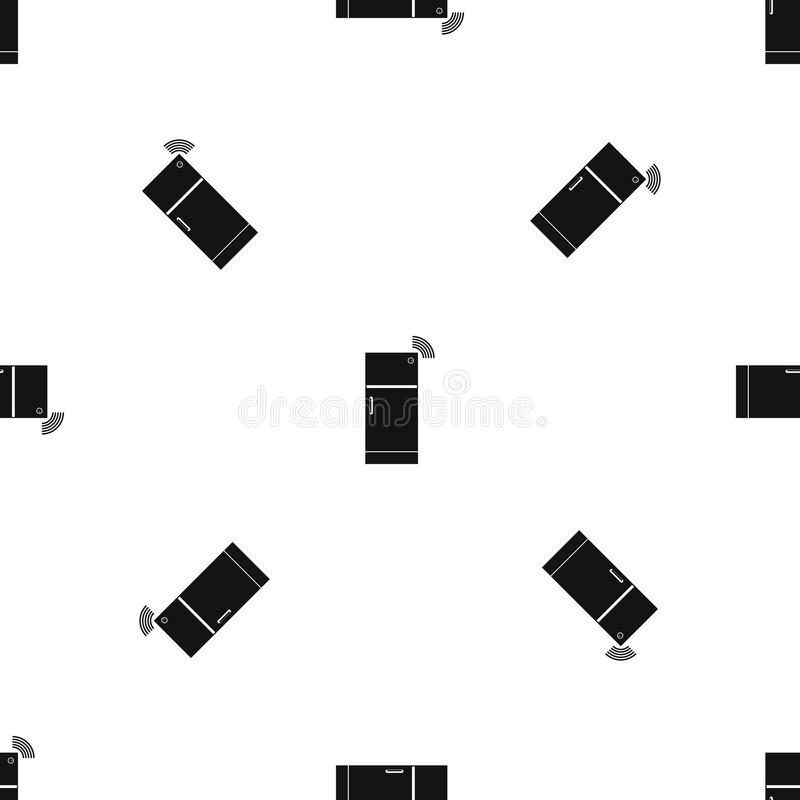Fridge deseniowy bezszwowy czerń ilustracji