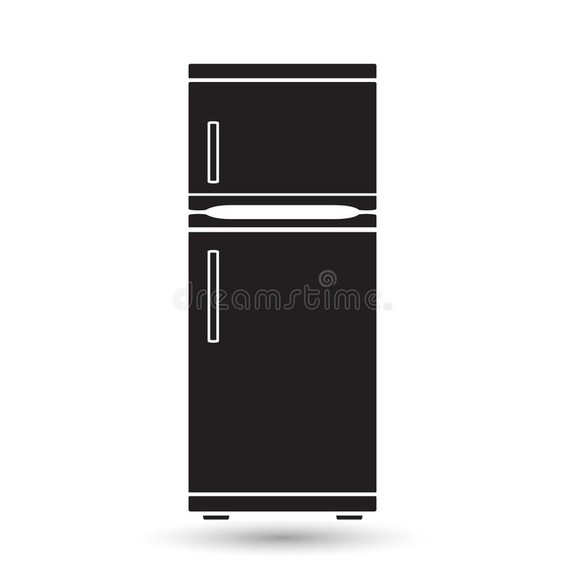 Fridge icons. icon of a refrigerator in the style of a flat design. royalty free illustration