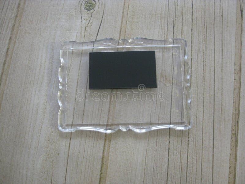 Fridge magnesy Pusty pusty akrylowy magnes zdjęcia royalty free