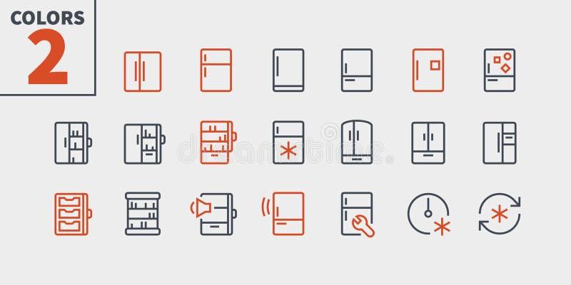 Fridge UI piksla wektoru Perfect Wykonywać ręcznie Cienkie Kreskowe ikony 48x48 Przygotowywać dla 24x24 siatki dla sieci grafika  ilustracja wektor