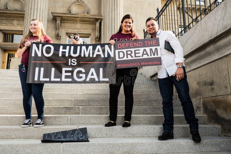 Fridsam demonstration för drömmare arkivfoton