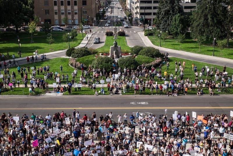 Fridsam demonstration för drömmare royaltyfri foto