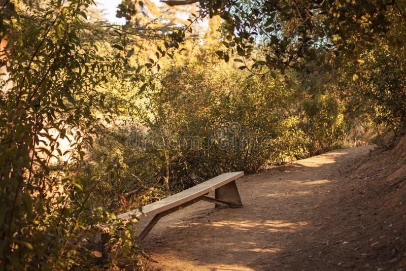 Fridsam Franklin Canyon vandring i Beverly Hills, Kalifornien Parkera består av 605 tunnländer och lokaliseras på royaltyfria bilder