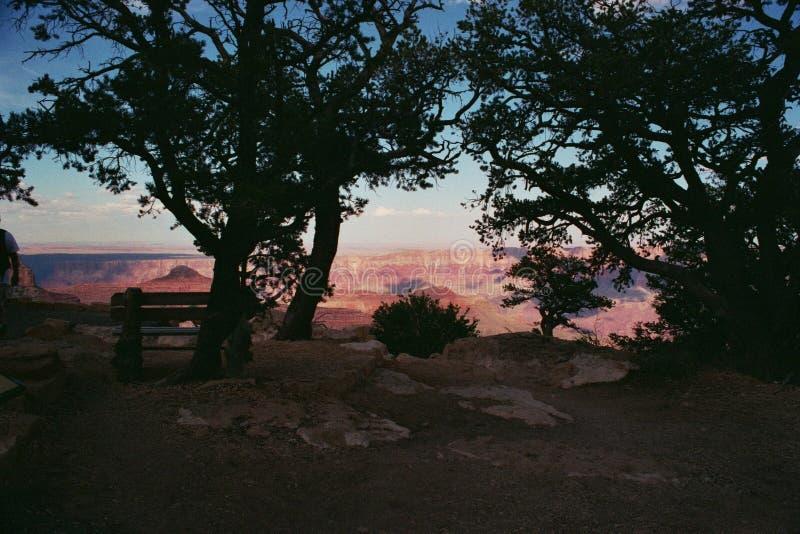 Fridsam kanjonsikt royaltyfri fotografi