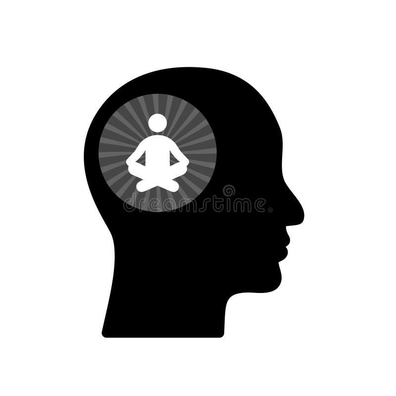 Fridsam meningssymbol, tecken, logo royaltyfri illustrationer