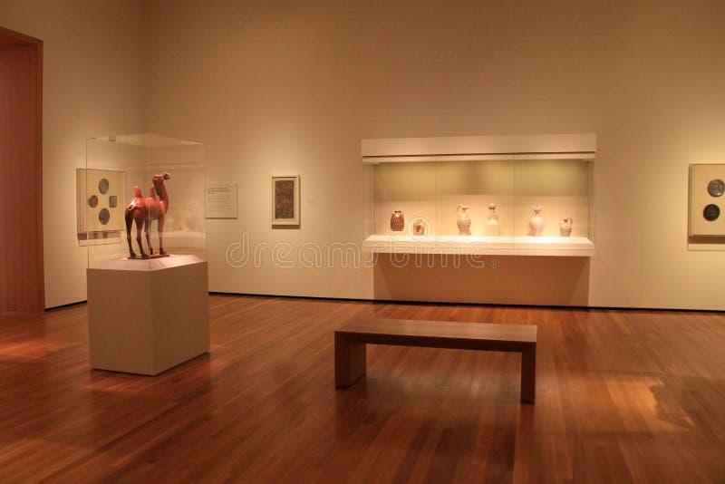 Fridsam plats med omfattande utställningar, Cleveland Art Museum, Ohio, 2016 arkivfoton