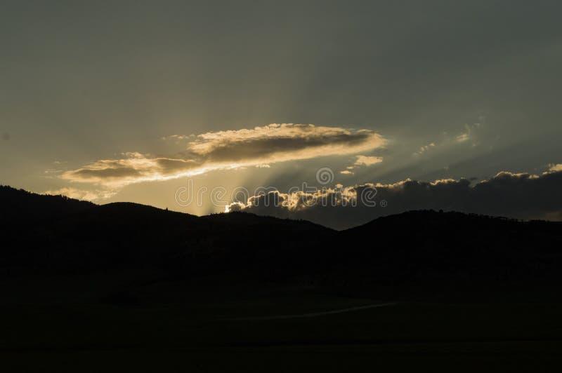 fridsam solnedgång arkivfoto