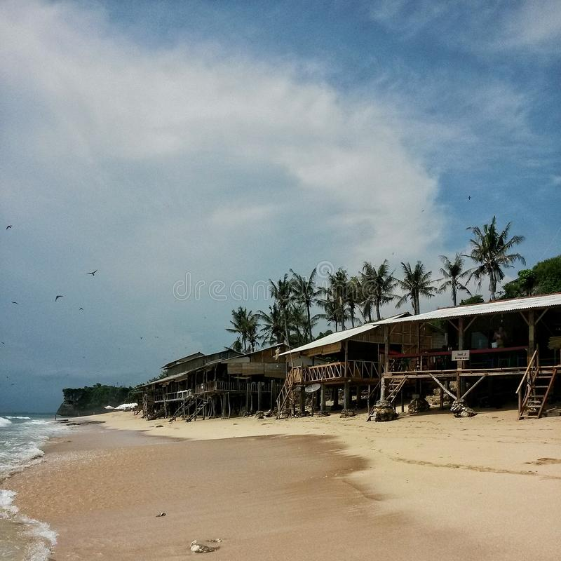 Fridsam strand arkivfoto
