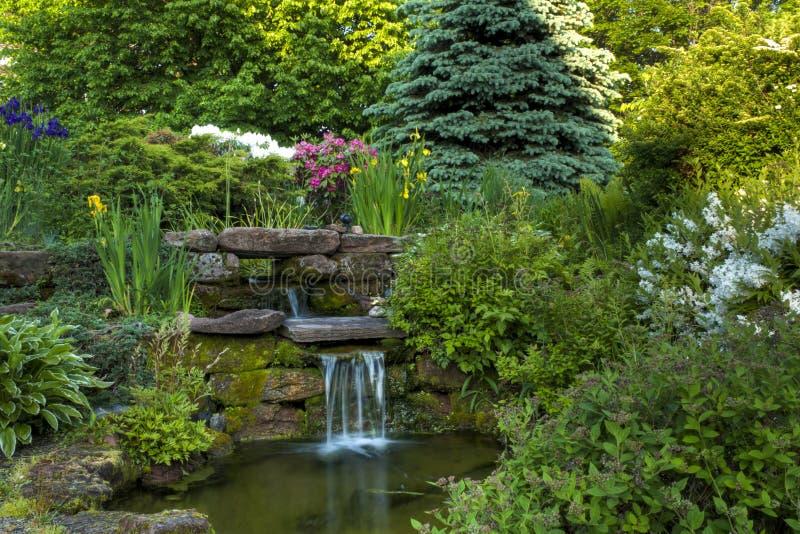 Fridsam trädgård royaltyfria bilder
