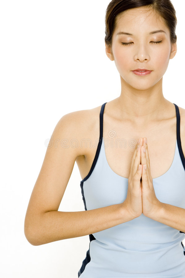 Fridsam Yoga arkivfoto