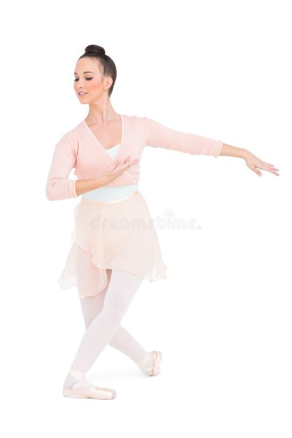 Fridsamt attraktivt posera för ballerina arkivbild