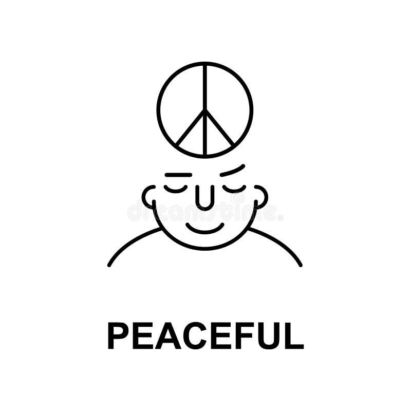 fridsamt på meningssymbol Beståndsdel av symbolen för mänsklig mening för mobila begrepps- och rengöringsdukapps Den tunna linjen vektor illustrationer