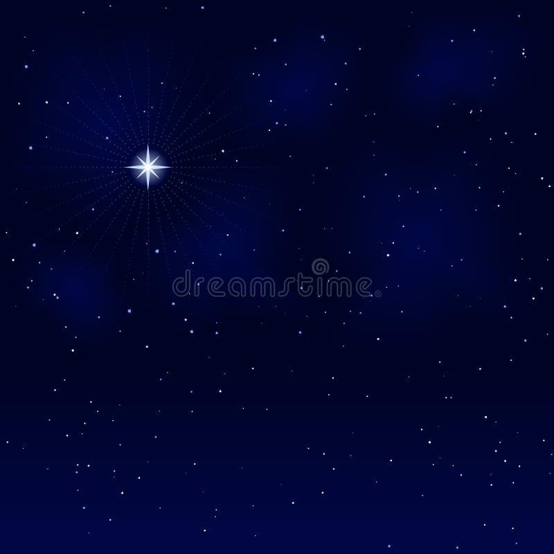 fridsamt tyst starry stillsamt för natt vektor illustrationer