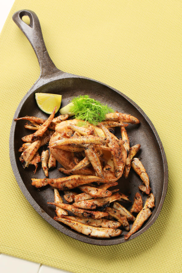 Download Fried anchovies stock photo. Image of crispy, snack, little - 19944990