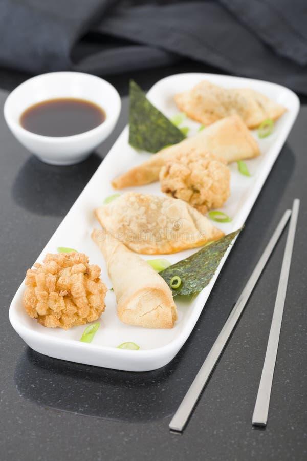 Fried Asian Snacks imágenes de archivo libres de regalías
