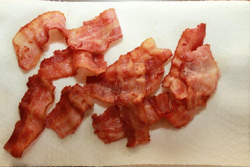Fried Bacon pronto da mangiare immagine stock