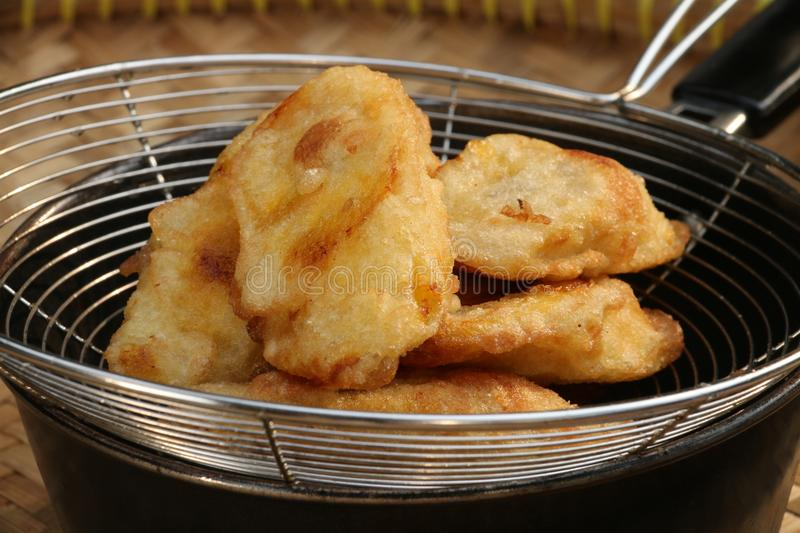 Fried Bananas royalty free stock images