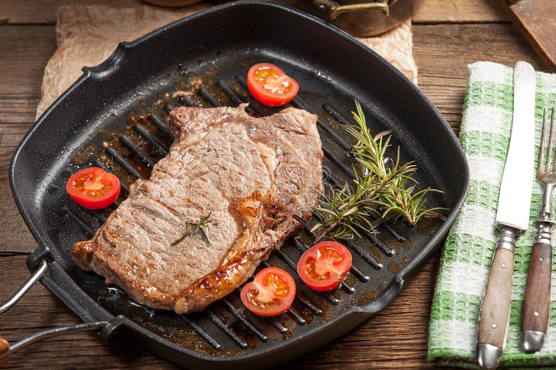 Download Fried beef steak. stock image. Image of food, eating - 50834403