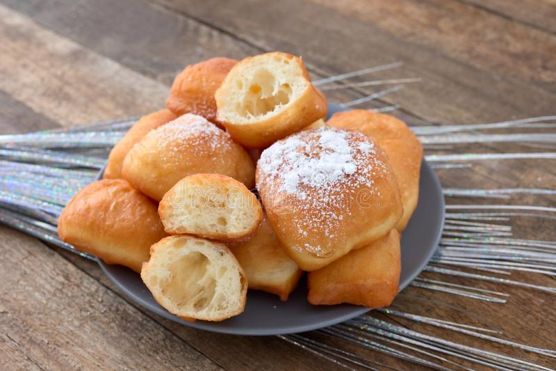 Fried beignets royalty free stock photography