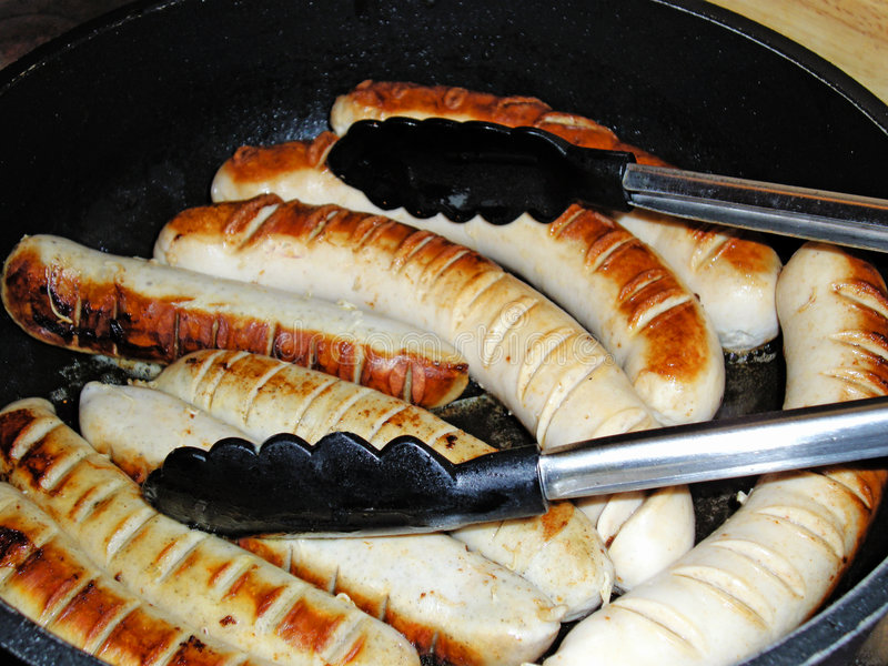 Download Fried Bratwurst stock image. Image of cooking, fried, sausage - 6187959